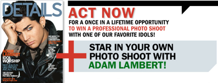 Star in a Photoshoot with Adam Lambert